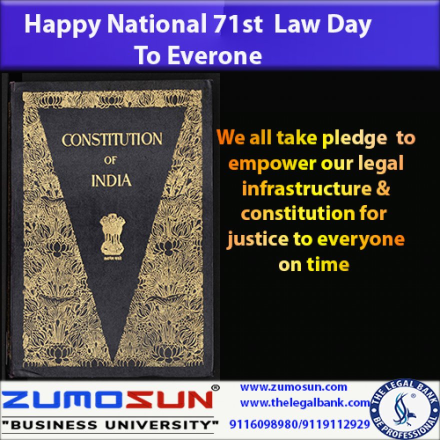 Happy National Law Day of India 2020 and It's Significance for Nation and People